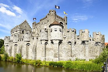 Castle Gravensteen (Castle of the Counts), Rekelingestraat, Ghent, West Flanders, Belgium, Europe