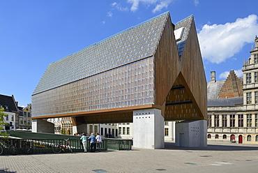 Stadshal (Market Hall), Poeljemarkt, Ghent, Flanders, Belgium, Europe