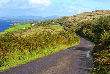 View from hillside road on the Beara Peninsular, Wild Atlantic Way, County Cork, Munster, Republic of Ireland, Europe