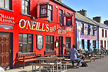 Painted Bars and Restaurant, Allihies, Beara Peninsular, Wild Atlantic Way, County Cork, Munster, Republic of Ireland, Europe