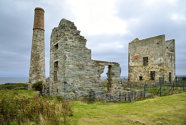Abandoned Copper mine, Tankardstown, Copper Coast Drive, County Waterford, Munster, Republic of Ireland, Europe
