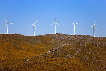 Wind farm, Pontevedra area, Galicia, Spain, Europe