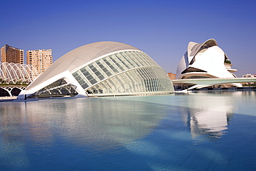 L'Hemisferic and Reina Sofia Arts Palace, City of Arts and Sciences, Valencia, Spain, Europe