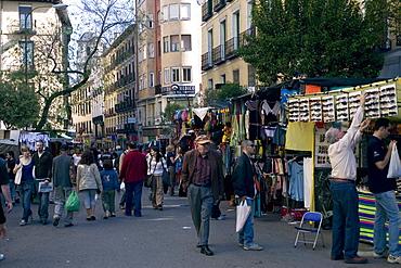 Rastro Sunday Market, Barrio la Latina, Madrid, Spain, Europe