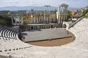 Roman theatre of ancient Philippopolis, Plovdiv, Bulgaria, Europe