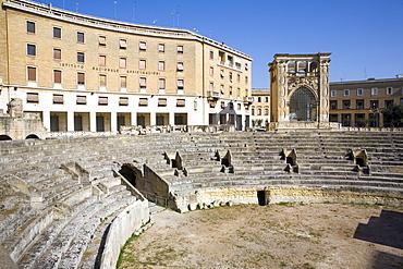 Roman theatre, Sant'Oronzo Square, Lecce, Lecce province, Puglia, Italy, Europe
