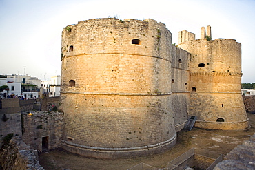 The castle, Otranto, Lecce province, Puglia, Italy, Europe