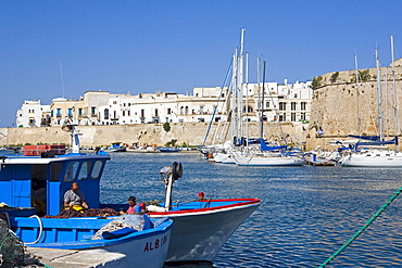 The castle and Old Town, Gallipoli, Lecce province, Puglia, Italy, Europe