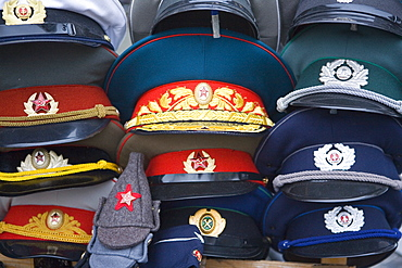 Eastern European memorabilia, Checkpoint Charlie, Berlin, Germany, Europe