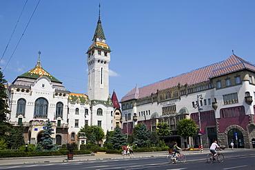 County Council Building and Culture Palace, Targu Mures, Transylvania, Romania, Europe