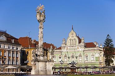 Unirii square, Timisoara, Romania, Europe