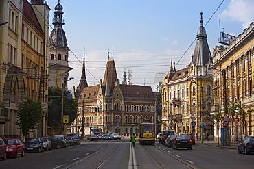 Regele Ferdinand Street, Cluj Napoca, Transylvania, Romania, Europe