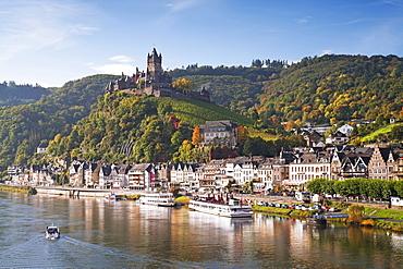 Reichsburg Castel, Cochem, Moselle river, Rhineland-Palatinate, Germany, Europe