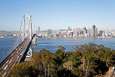 Oakland Bay Bridge and city skyline, San Francisco, California, United States of America, North America