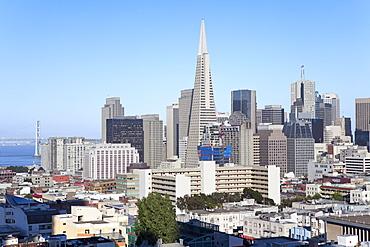 City skyline, San Francisco, California, United States of America, North America