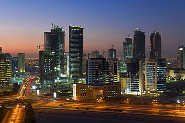 New skyline of the West Bay central financial district of Doha, Doha, Qatar, Middle East