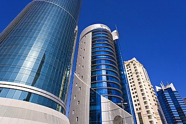 West Bay, Qatar's financial and central business district, Doha, Qatar, Middle East