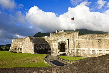 Brimstone Hill Fortress, 18th century compound, largest and best preserved fortress in the Caribbean, Brimstone Hill Fortress National Park, UNESCO World Heritage Site, St. Kitts, Leeward Islands, West Indies, Caribbean, Central America
