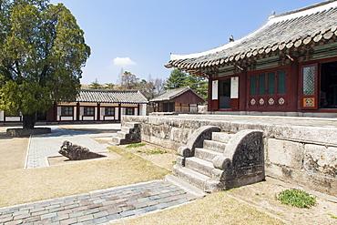 King Wang Kon's Mausoleum, Kaesong City, Democratic People's Republic of Korea (DPRK), North Korea, Asia