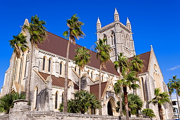 Trinity Cathedral, Anglican Cathedral dating from 1894, Hamilton, Bermuda, Central America