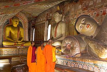 Maharaja Viharaya Cave (Temple of the King), Golden Temple, Cave Temples, UNESCO World Heritage Site, Dambulla, Sri Lanka, Asia