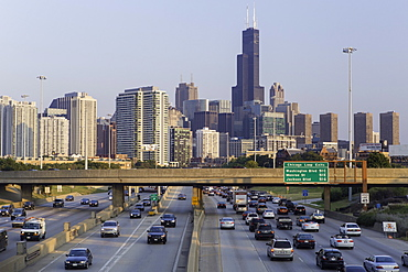 Interstate leading Downtown, Chicago, Illinois, United States of America, North America