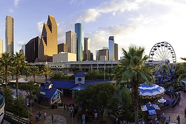 City skyline, Houston, Texas, United States of America. North America