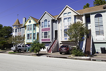 Suburban housing in Houston, Texas, United States of America, North America