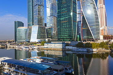 Skyscrapers of the Modern Moscow-City International  business and finance development, Moscow, Russia, Europe