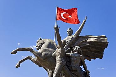 Ataturk statue in the Old Town of Antalya, Anatolia, Turkey, Asia Minor, Eurasia