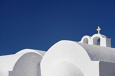 Church in Firostefani, Santorini, Cyclades, Greek Islands, Greece, Europe
