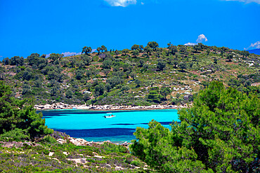 beautiful hidden beach halkidiki, greece
