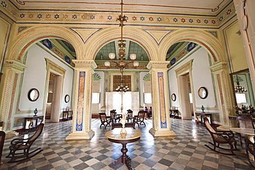 Interior of the Palacio Cantero, houses the Municipal History Museum, Trinidad, UNESCO World Heritage Site, Cuba, West Indies, Caribbean, Central America