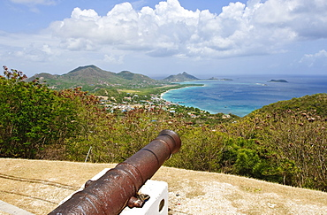 Cannons on Carriacou, Grenada, Windward Islands, West Indies, Caribbean, Central America
