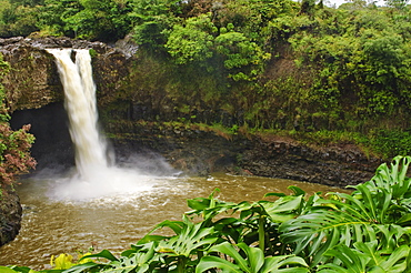 Wailuku River Rainbow Falls State Park on the Big Island, Hawaii, United States of America, North America