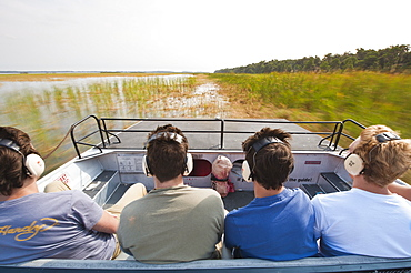 Air boating in the Everglades, UNESCO World Heritage Site, Florida, United States of America, North America