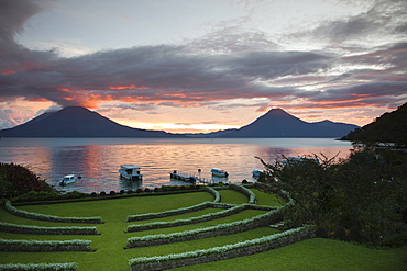 Toliman volcano, Lago de Atitlan, Guatemala, Central America
