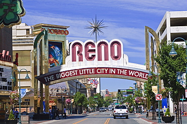 Reno Main Street scene, Reno, Nevada, United States of America, North America