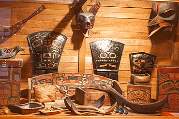 First Nation's artifacts at the Museum of Northern British Columbia, Prince Rupert, British Columbia, Canada, North America