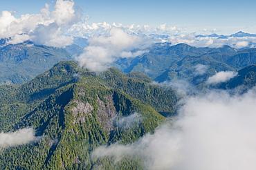Coastal scenery in Great Bear Rainforest, British Columbia, Canada, North America