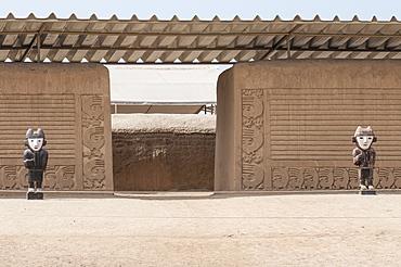 Ruins of Chan Chan Pre-Columbian archaeological site near Trujillo, Peru, South America