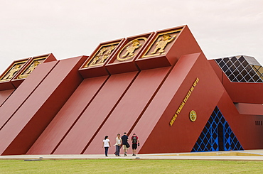 Museum of the Royal Tombs of Sipan (Museo de Las Tumbes Reales de Sipan) near Chiclayo in Lambayeque, Peru, South America