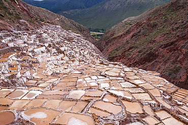 Salt pans (mines) at Maras, Sacred Valley, Peru, South America