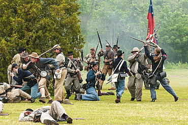 Thunder on the Roanoke Civil War reenactment in Plymouth, North Carolina, United States of America, North America