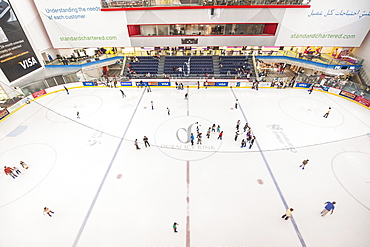 Ice rink in Mall of the Emirates, Dubai, United Arab Emirates, Middle East