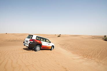 Desert safari outside Dubai, United Arab Emirates, Middle East