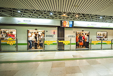 Subway, Shanghai, China, Asia
