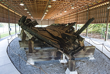 Remains of the ironclad C.S.S. Neuse State Historic Site and Governor Richard Caswell Memorial, North Carolina, United States of America, North America