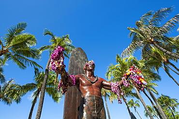 Duke Paoa Kahanamoku, Waikiki Beach, Honolulu, Oahu, Hawaii, United States of America, Pacific