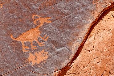 Petroglyphs at Sun's Eye, Monument Valley Navajo Tribal Park, Monument Valley, Utah, United States of America, North America